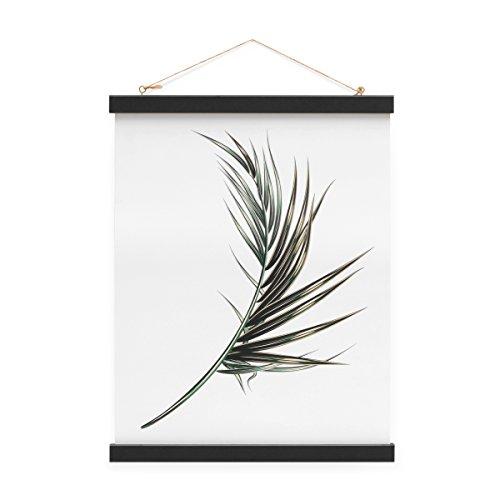 PHOTOLINI Posterleiste in Schwarz 31 cm Magnetische Poster-Hänger/Posterhalter/Posterschiene