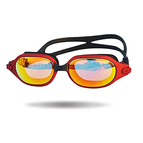 AWJ Gafas de Buceo Nuevas Gafas de natación con Montura Grande, Impermeables y antivaho Gafas de natación con galvanoplastia Transparente con Montura Grande, Rosa