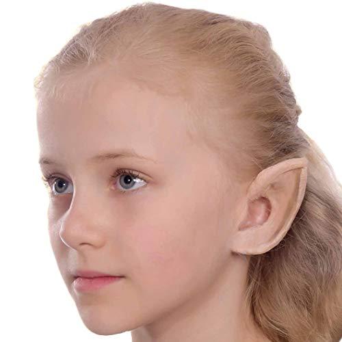 NET TOYS Elfenohren für Kinder   ca. 8,5 cm & mit Mastix   Hübsches -Kostüm-Zubehör Latex-Elbenohren   EIN Highlight für Kinder-Fasching & Mottoparty