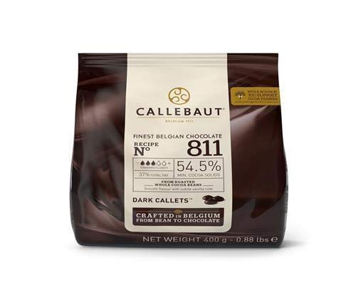 CALLEBAUT Receipe No. 811 - Couverture Callets, pure chocolade, 54,5% cacao, 1 x 400G