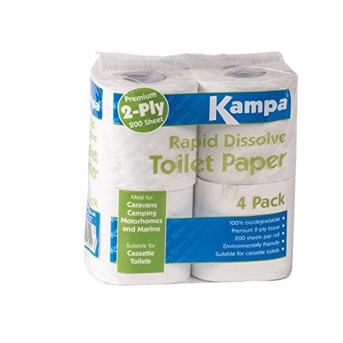 Siehe Beschreibung Schnell auflösendes, 100% biologisch abbaubares Toilettenpapier • Campingtoilette Klopapier Reisetoilette Wohnmobil WC abbaubar