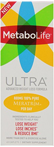 Twinlab MetaboLife Ultra Advanced Weight Loss Formula Dietary Supplement, 45 Count