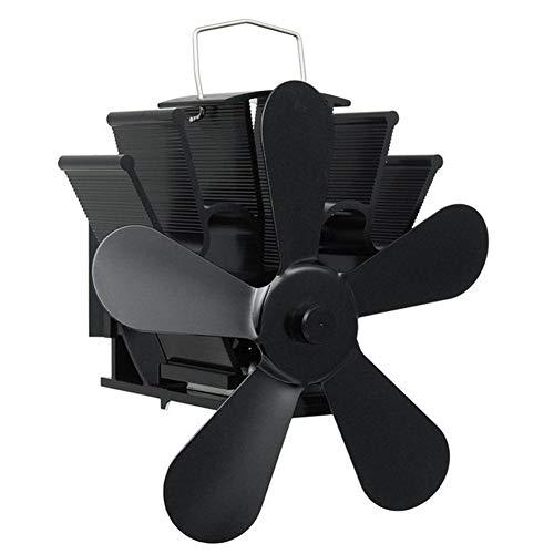 Kuangqianwei kachel in open haard met 5 messen Calda Blast kachel fan log brander, milieuvriendelijk, stil, efficiënte ventilator, warmteverdeling