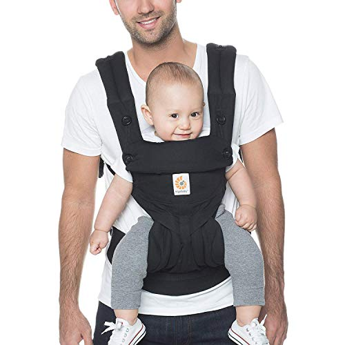 Ergobaby 360 All-Position Baby Carrier with Lumbar Support (12-45 Pounds), Pure Black