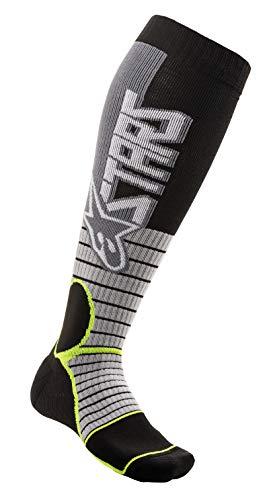 Alpinestars Unisex-Erwachsene Mx Pro Socken Cool Grey/Yellow Lg (Mehrfarbig, Einheitsgröße