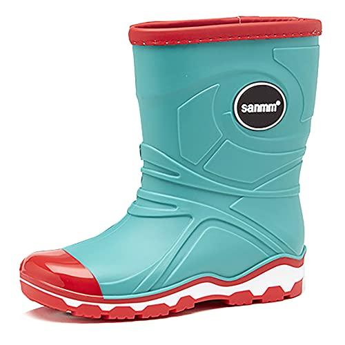 Stylein Unisex-Kids' Waterproof PVC Rubber Classic Rain Boot Green