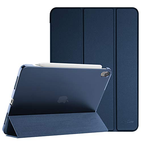 "ProCase iPad Air 4 Case 10.9 Inch 2020 iPad Air 4th Generation Case A2316 A2324 A2325 A2072, Slim Stand Hard Back Shell Protective Smart Cover Cases for iPad Air 10.9"" 4th Gen 2020 -Navy"