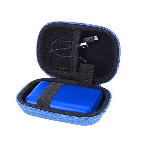 収納ケース Anker PowerCore 10000 モバイルバッテリー 専用保護-Aenllosi (ブルー)
