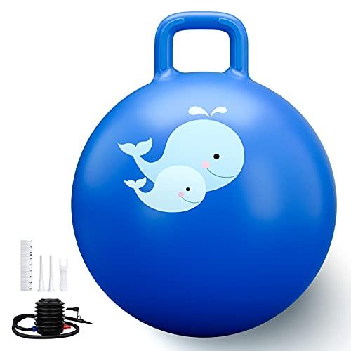 Trideer Hopper Ball Kids Exercise Ball Multi-Function, Jump Ball, Bouncy Ball with Handles, Kids...
