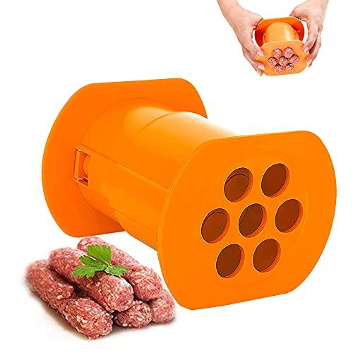 isimsus Máquina para hacer salchichas manual para salchichas, para hacer salchichas, para salchichas, perritos calientes, croquetas y gnocchi (7 agujeros)
