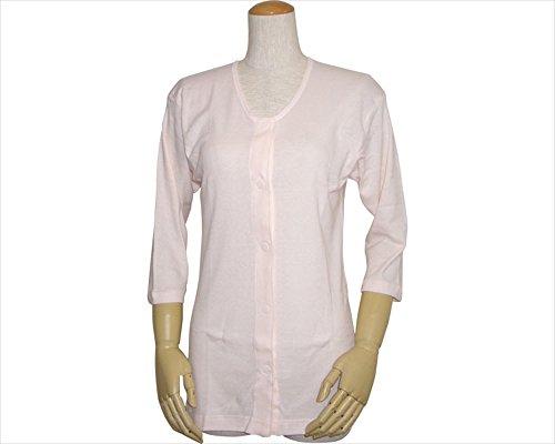 婦人前開きシャツ (ワンタッチテープ式) 七分袖  L
