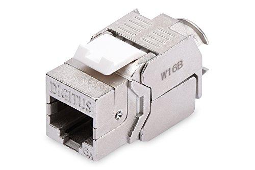 Modulo DIGITUS Keystone - Cat-6A - 24 pz - Schermato - RJ45 - Classe EA - 500 MHz - 10GBase-T - Montaggio senza attrezzi, Modulo Keystone - 24 Pezzi, Cat 6A - Schermato