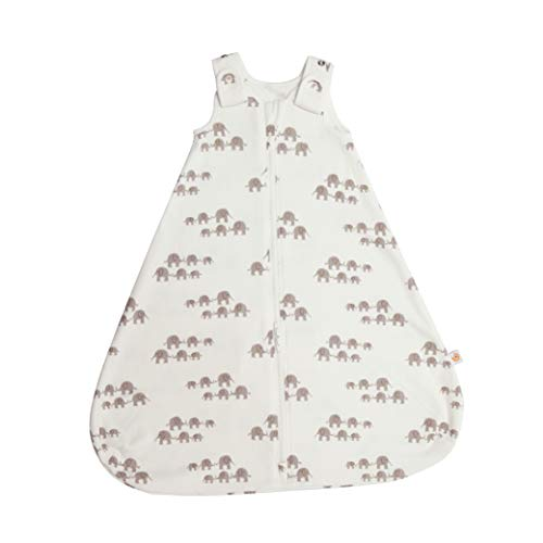 Ergobaby Babyschlafsack Sommer Neugeboren 56-62 Baumwolle, Sommerschlafsack Baby Schlafsack 0-6 Monate 0.5 TOG, Elefant