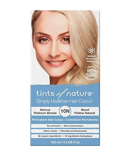 Tints of Nature 10N Natural Platinum Blonde, Vegan Permanent Hair Dye, 95% Natural, Free from Ammonia, Parabens, and Propylene Glycol, Single