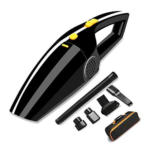 Sonoka Aspiradora de Coche 12V, Aspirador de Mano Potente 120W, Portátil Aspiradores para Vehículos, Limpiador de Seco o Húmedo con 5m Cable, Bolsa de Transporte y Otros Accesorios