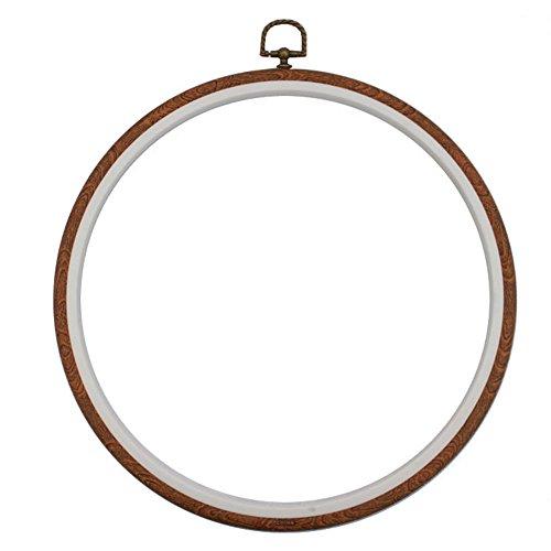 Marco de punto de cruz para bordado, resistente, marco de costura, redondo, ovalado, rectangular, octagonal 17.5cm Round