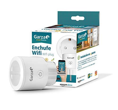 Garza ® Smarthome - Enchufe wifi inteligente programable compatible con Alexa y Google Home. Enchufe programador temporizador de domótica