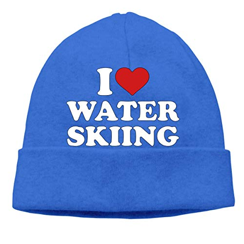 angwenkuanku Men & Women I Love Water Skiing Outdoor Warm Beanies Hat Soft Winter Skull Caps gorgeous17670