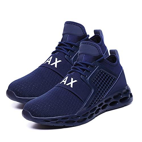 CloverGorge Zapatos Deportivos Ligeros de Moda con Cordones, Zapatos para Correr Transpirables con Superficie de Malla Informal, Zapatos Deportivos de Ocio para Hombres