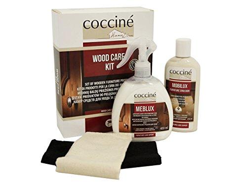Mirjan24 Reinigungsmittel für Kastenmöbel Coccine Home Line Wood Care KIT, Set zur Pflege von Holzmöbeln