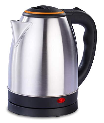 Tetera Eléctrica/Hervidor de Agua para Preparar Café, Té y Leche en Polvo, Acero Inoxidable 2 litros