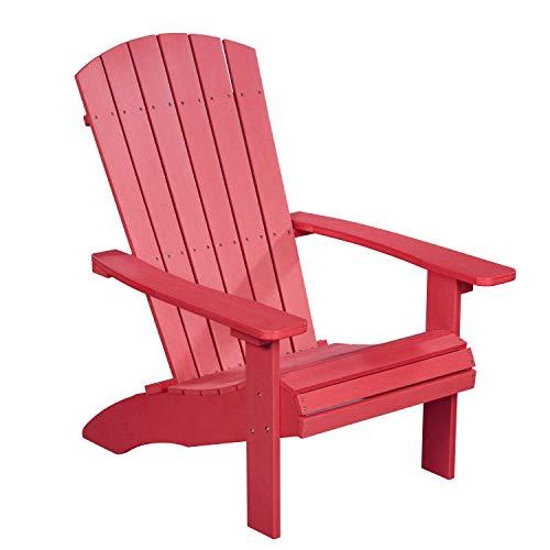 NEG Design Adirondack Stuhl Marcy (rot) Westport-Chair/Sessel aus Polywood-Kunststoff (Holzoptik, wetterfest, UV- und farbbeständig)