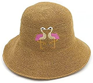 7124ff302a2 Ruiyue Raffia Straw Hats, Fashion Manual Hand Knitted Ostrich Turquoise  Decoration Foldable Sun Hats Caps