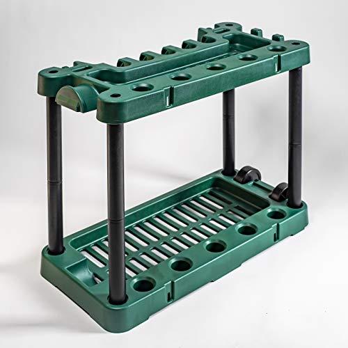 UPP Geräte Orga mobil | Portabler Gerätehalter hält Besen, Spaten & Rechen immer griffbereit | Mobiles Ordnungsystem für Ihre Gartengeräte