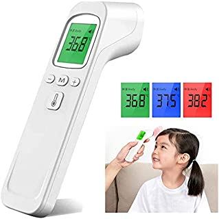 Forehead Thermometer for Fever, Portable Digital Infrared Thermometer for Baby, Kids and Adults, Non-Contact Temporal Thermometer with Instant Accurate Reading, Fever Alarm and Memory Function