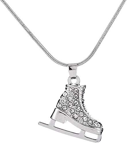 Xianglsp Co.,ltd Weiße Emaille Schlittschuhe Schuhe Anhänger Langer Mann Frauen Mädchen Halsreif Halskette Geburtstag Festival Datum Geschenk
