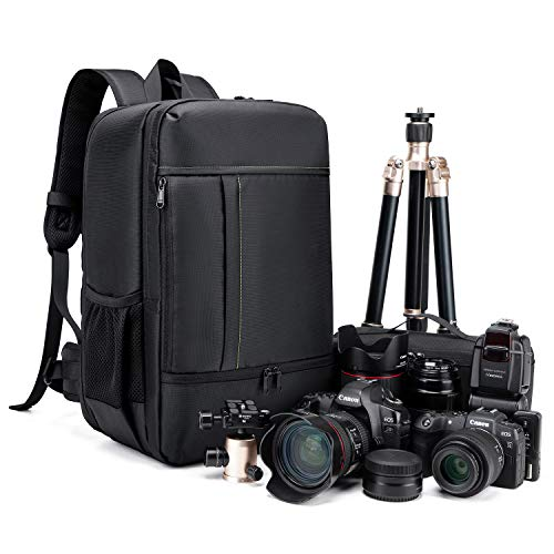 Estarer Camera Backpack Professional DSLR,Waterproof Photography Laptop Backpack, Camera Bag for Sony Canon Nikon Lens Tripod Accessories