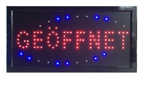 LED Schild geöffnet Leuchtreklame Display Werbung NEU!!! GEÖFFNET (2)