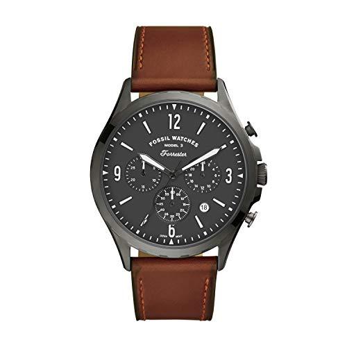 FOSSIL Reloj Analógico para de los Hombres de Cuarzo con Correa en Cuero FS5815