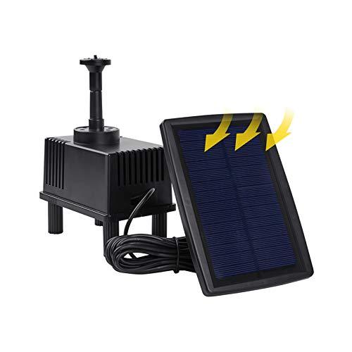 OCGIG 180L/H Bomba de Agua Sola Bomba Flotante 7V/1.5W Panel Solar con Solar Jardín Kit Bomba de Agua Sumergible para Jardín y Birdbath y Estanque