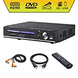 DVD Player, Sindave Compact DVD Players for TV Region Full HD Upscaling 1080p