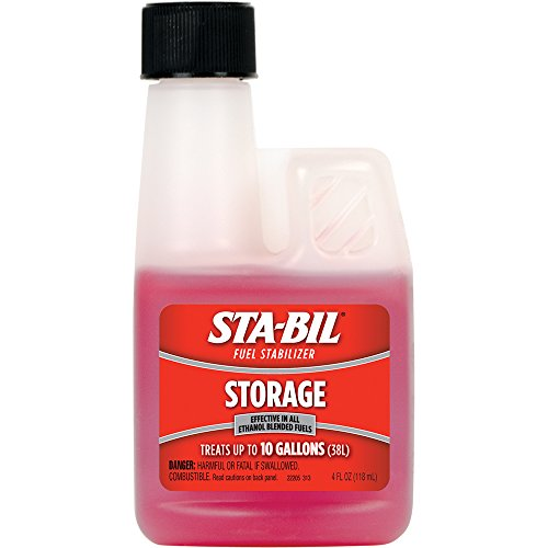 STA-BIL (22205) Storage Fuel Stabilizer- Keeps Fuel Fresh For Up To 24 Months - Effective In All Ethanol Blended Fuels, 4 fl. oz.