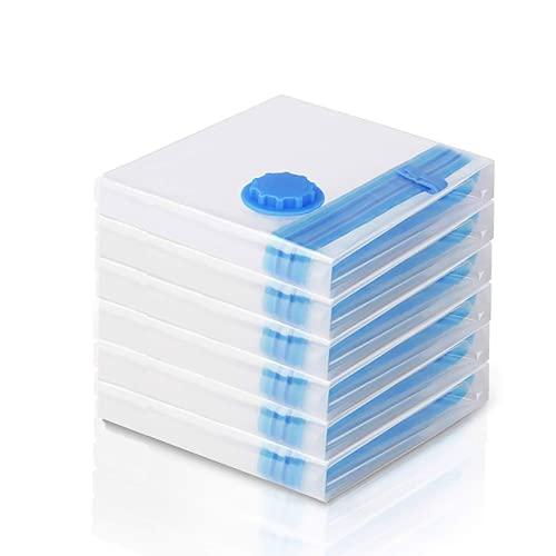 Vakuumbeutel 6 Stück (60x80 CM) Vakuumbeutel für Kleidung und Bettdecken Aufbewahrungsbeutel Reise Vakuum Kleiderbeutel wiederverwendbar
