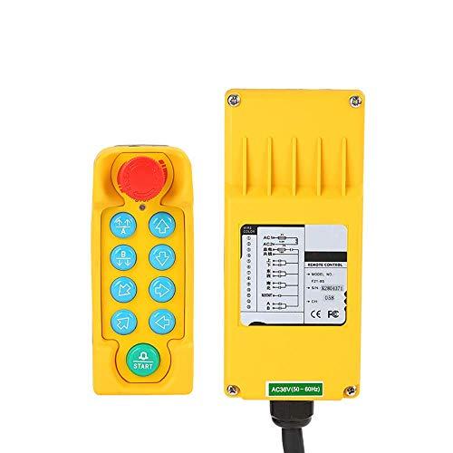 MXBAOHENG Control remoto industrial de la grúa de polipasto PF21-8S control inalámbrico para el transmisor de la grúa 1 y 1 receptor (12 V)