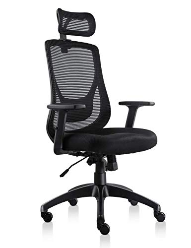 VIVA Office Mesh Chair Ergonomic High Back Chair With Adjustable Headrest And Armrest (Viva1168F1)