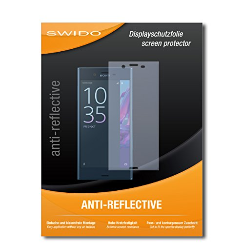 SWIDO Schutzfolie für Sony Xperia XZ [2 Stück] Anti-Reflex MATT Entspiegelnd, Hoher Festigkeitgrad, Schutz vor Kratzer/Bildschirmschutz, Bildschirmschutzfolie, Panzerglas-Folie