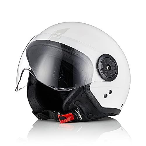 Origine casco de motocicleta casco de scooter casco de scooter casco abierto de calle 3/4 casco jet ECE 22.05 con visera