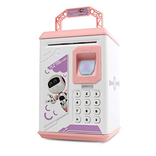 Hucha creativa de dibujos animados ATM Sensor de huellas dactilares Hucha Sensor de huella dactilar Hucha Historia musical Hucha Dos opciones de color (robot azul y rosa robot)
