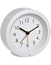 TFA Dostmann Genua 60.1029.02 - Despertador analógico con Mecanismo de Barrido, plástico, Color Blanco, 110 x 50 x 145 mm