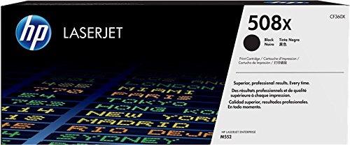 HP 508X CF360X, Cartuccia Toner Originale, ad Alta Capacità, da 12500 Pagine, Compatibile con Stampanti HP Color Laserjet Enterprise serie M550 e M570, Nero