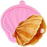 NMLB Moldes de Silicona de Concha de almeja Herramientas de Pasteles de Fondant de Borde de Pastel Cupcake Topper Cookie Baking Candy Chocolate Gumpaste Molde