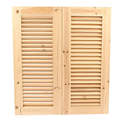 NL Swinging Doors Louver Design Swinging Cafe Doors, Pine Saloon Doors Fits Any 32