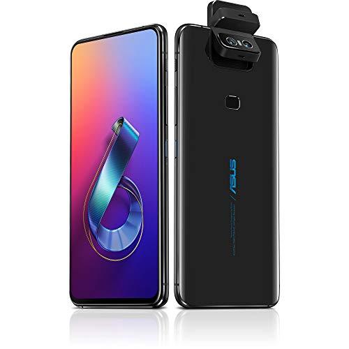 "ASUS ZenFone 6 (ZS630KL-S855-6G64G-BK) - 6.4"" FHD+ 2340x1080 All-Screen NanoEdge Display - 48MP Flip Camera – 6GB RAM - 64GB Storage - LTE Unlocked Dual SIM Cell Phone - US Warranty - Black"