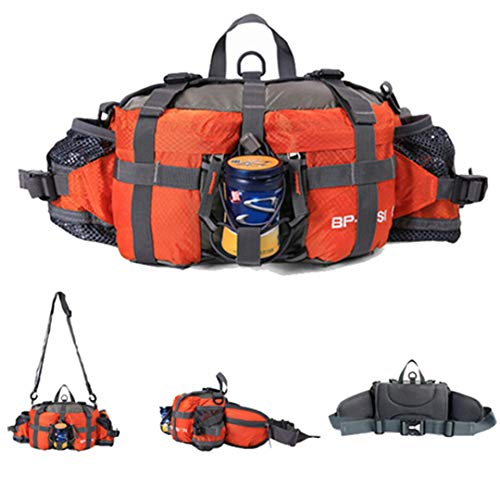 Motorhelay Multifonctionnel imperméable Sports Plein air Randonnée à vélo Sac Taille Paquet Orange Other