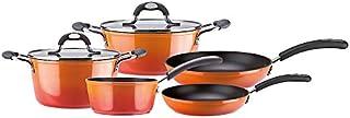 VITREX 71BAFUEGO07 71BAFUEGO07-Batería de Cocina Gourmet Full Induction Modelo Fuego de 7 Piezas, Aluminio, Multicolor
