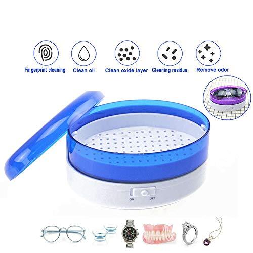 MTSBW Ultraschallreiniger, Mini-Schmuck Brille Circuit Board-Reinigungs-Maschine, intelligente Steuerung, geeignet für die Reinigung Brillen, Uhren, Schmuck